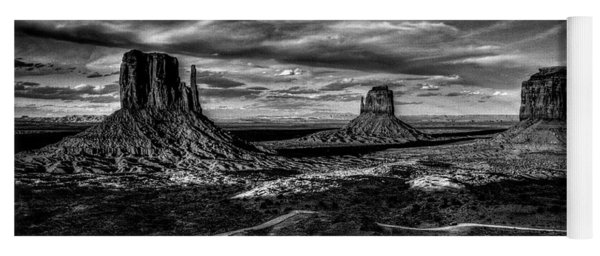 Monument Valley Views Bw Yoga Mat