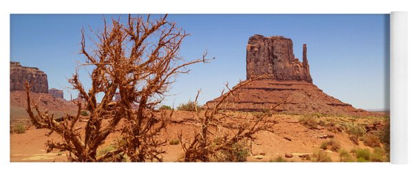 Monument Valley West Mitten Butte And Landscape Yoga Mat