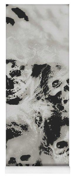 Moody Dramatic Cobwebby Skull Artwork Yoga Mat