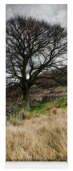 Yoga Mat featuring the photograph Moody Scenery In Central Scotland by Jeremy Lavender Photography