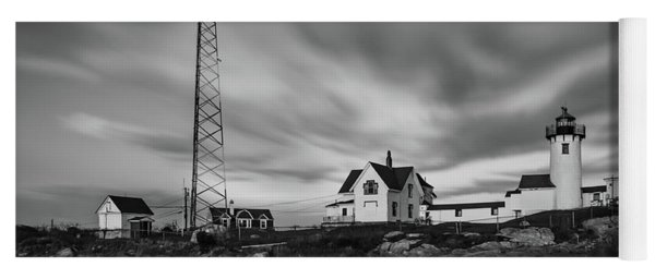 Moody Sky At Eastern Point Lighthouse Yoga Mat