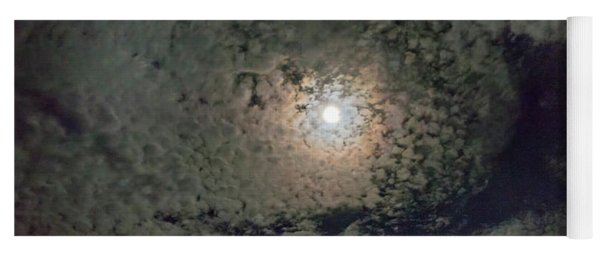 Moon And Clouds Yoga Mat