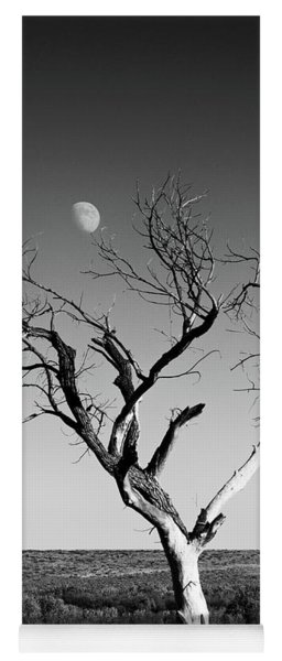 Moon And Memory At Bosque Del Apache N M Yoga Mat
