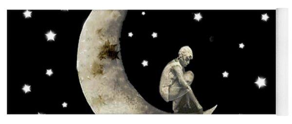 Moon And Stars T Shirt Design Yoga Mat