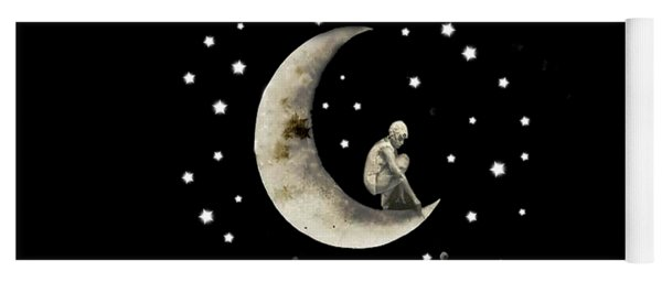 Moon And Stars T Shirt Design Yoga Mat