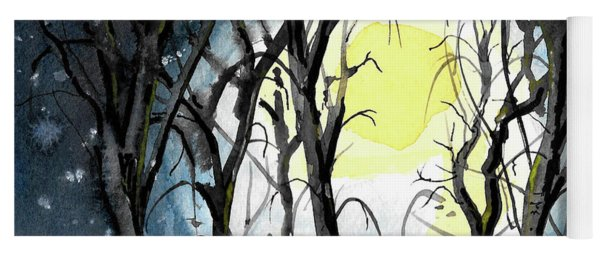 Moon And Trees Yoga Mat