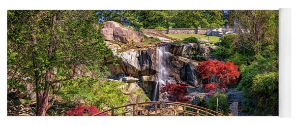 Moon Bridge And Maymont Falls Yoga Mat