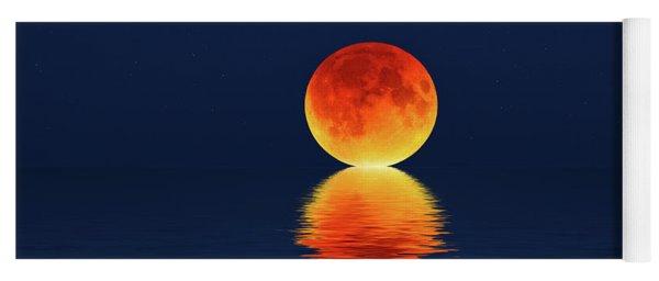 Moon Kissing The Sea Yoga Mat