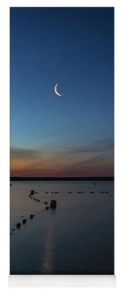 Moon Over Cayuga Yoga Mat
