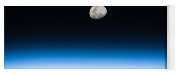 Moon Rise From The Space Station By Nasa Yoga Mat