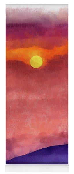 Moon Rise In Aquarelle Yoga Mat