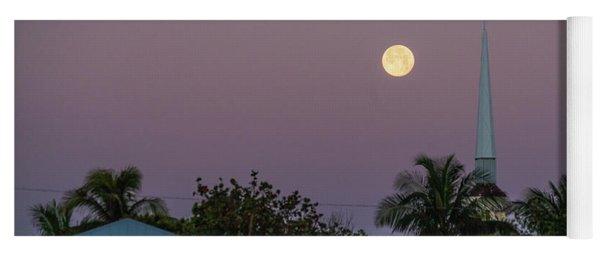 Moon Steeple Delray Beach Florida Yoga Mat