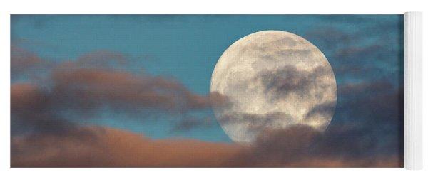 Moon Through The Clouds Yoga Mat