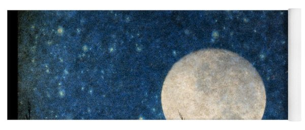 Moon, Tree And Stars Yoga Mat