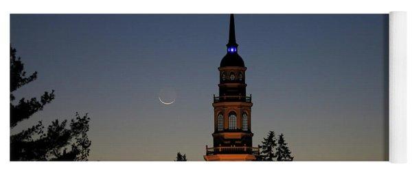 Moon, Venus, And Miller Tower Yoga Mat