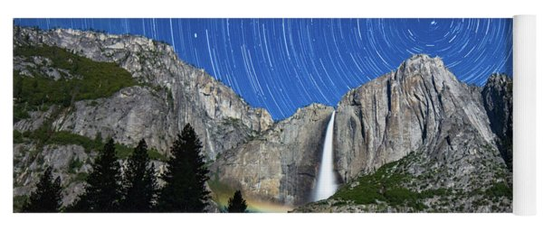 Moonbow And Startrails  Yoga Mat