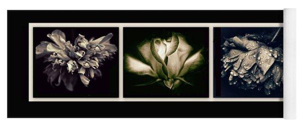 Moonlight Petals Triptych Yoga Mat
