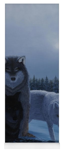 Moonlight Wolves Yoga Mat