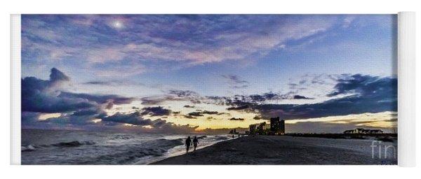 Moonlit Beach Sunset Seascape 0272b1 Yoga Mat