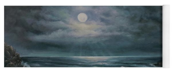 Moonlit Seascape Yoga Mat