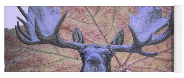 Moonlit Moose Yoga Mat