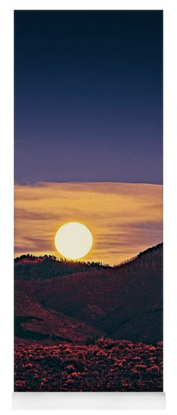 Moonrise In Northern New Mexico  Yoga Mat