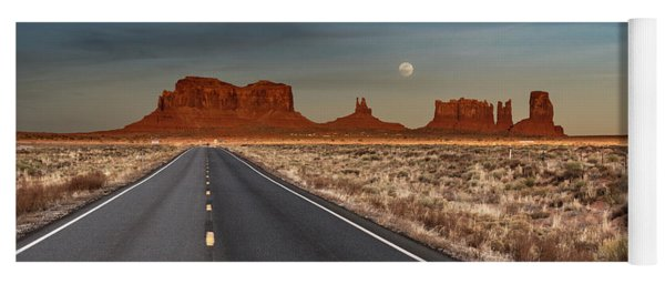 Moonrise Over Monument Valley Yoga Mat
