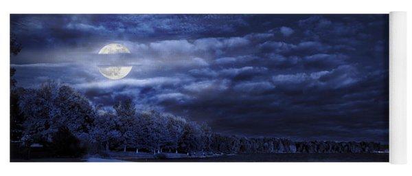 Moonrise Over Pymatuning Lake Yoga Mat