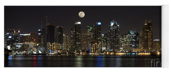 Moonrise Over San Diego Yoga Mat