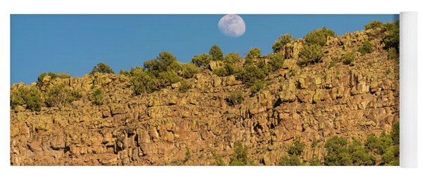 Moonrise Rio Grande Gorge Pilar New Mexico Yoga Mat
