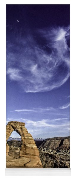 Moonset Delicate Arch Yoga Mat