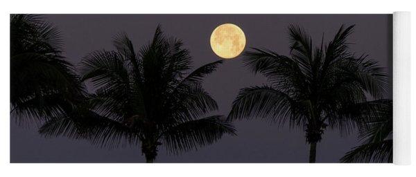 Moonset Palms Delray Beach Florida Yoga Mat