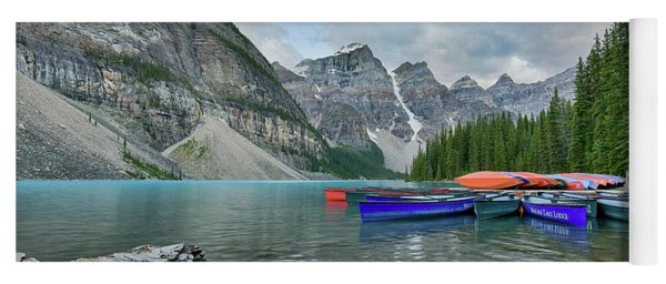 Moraine Logs And Canoes Yoga Mat