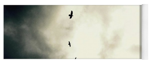 Big Sky Crows Yoga Mat
