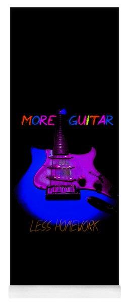 More Guitar Less Homework Yoga Mat