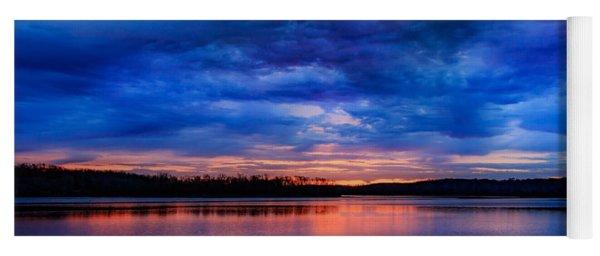 Morning At The Lake Yoga Mat