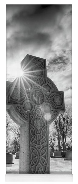Yoga Mat featuring the photograph Morning Cross by Guy Whiteley