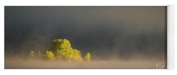 Morning Fog On Jackson Lake Grand Teton National Park  Yoga Mat