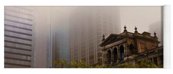 Morning Fog Over The Treasury Yoga Mat