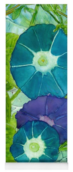 Morning Glories In Watercolor On Yupo Yoga Mat