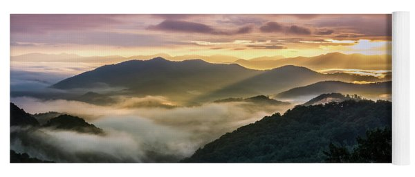 Morning In The Smoky Mountains Yoga Mat