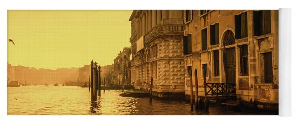 Morning In Venice Sepia Yoga Mat