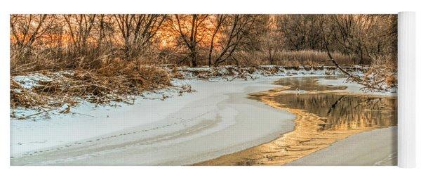 Morning Light On The Riverbank Yoga Mat