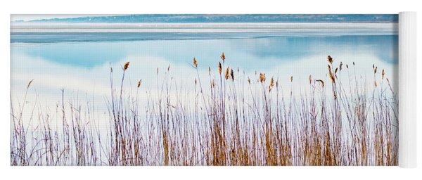 Morning Mist On The Lake Yoga Mat