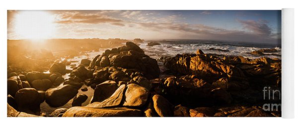 Morning Ocean Panorama Yoga Mat