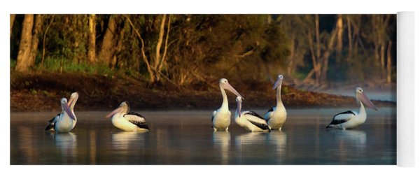 Morning On The River Yoga Mat