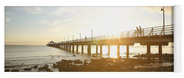 Morning Sunshine At The Pier  Yoga Mat