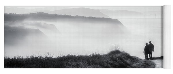 Morning Walk With Sea Mist Yoga Mat
