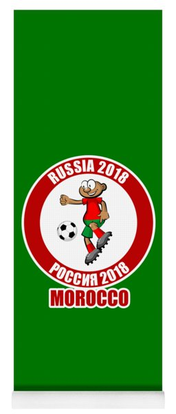 Morocco In The Soccer World Cup Russia 2018 Yoga Mat