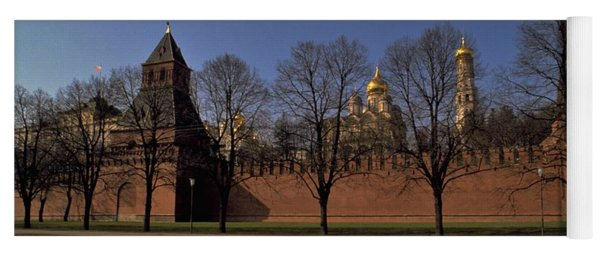 Yoga Mat featuring the photograph Moscow Kremlin In Winter by Travel Pics